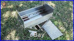 11x21 Portable Charcoal Mangal Shish Kebab, Kabob, BBQ Stainless Steel Grill