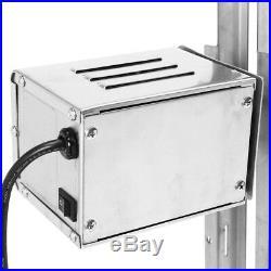 15W Motor Kit Large Grill Rotisserie Spit Roaster Rod Charcoal 110V 60Hz BBQ