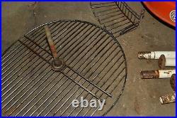 1960s Vintage KELLEY BIG BOY Orange Steel CHARCOAL BBQ GRILL Mechanical Grate