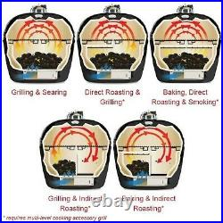 21 Kamado BBQ Grill Accessories Muitifuction Divide and Conquer Grill