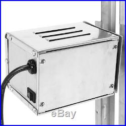 220V Large Grill Rotisserie Spit Roaster Rod Charcoal Lambs BBQ Stainless Steel