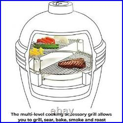 23.5 Kamado BBQ Grill Accessories Muitifuction Divide and Conquer Grill
