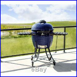 24 (61cm) Ceramic Kamado BBQ GRill, Smoker and Oven Charcoal Barbecue