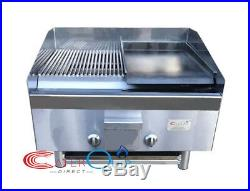 2 Burner Gas Charcoal Peri Peri Char Grill Bbq Heavy Duty For Commercial Use
