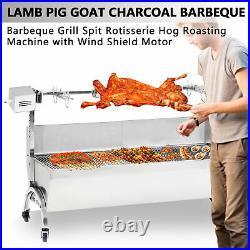 35kg Spit Hog Roaster BBQ Lamb Goat Pig Rotisserie Spit Roast Grill Barbecue UK