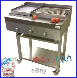 3 Burner Gas Charcoal Char Grill Bbq Heavy Duty For Commercial Use