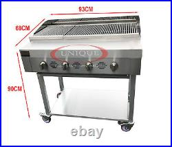 4 Burner Gas Charcoal Bbq Grill / Char-grill Heavy Duty For Commercial Use