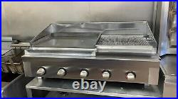 4 Burner Gas Charcoal Bbq Grill / Smash Burger Grill Heavy Duty Commercial Use