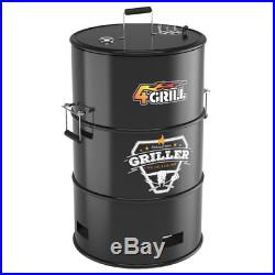 4-in1 Multi Barebecue Grill- XXL Garden Party, Camping Charcoal Grill BBQ Barrel