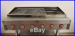 5 BURNER CHARCOAL GRILL FLAME BURGER GRILL WITH HALF GRIDDLE Chargrill BBQ