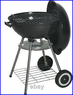 60cm Kettle Barbecue Bbq Grill Outdoor Charcoal Patio Cooking Portable Round