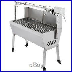 60kg Spit Hog Roaster Bbq Lamb Goat Pig Rotisserie Spit Roast Grill Barbecue Uk