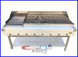 8 Burner Gas Charcoal Char Grill Bbq Heavy Duty For Commercial Use