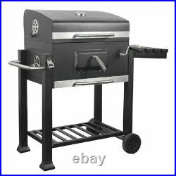 BBQ Barbecue Charcoal Grill with Wheels Portable Picnic Party Outdoor Patio Garden