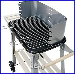BBQ Barbeque Grill Charcoal Outdoor Garden Patio Rectangular Camping Trolley