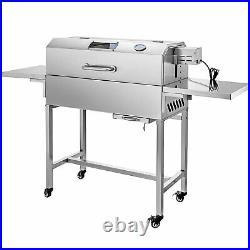 BBQ Charcoal Grill Garden 25W Motor Stainless Steel Smoking Garden BBQ Grill