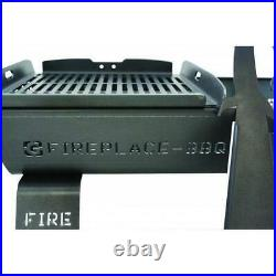 BBQ Charcoal Outdoor Steel Fire Pit BBQ, Large Grill 80 x 50 cm