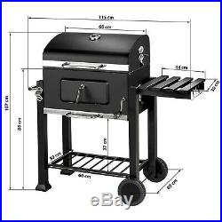 BBQ Charcoal grill barbecue grill garden portable outdoor 115x65x107cm new