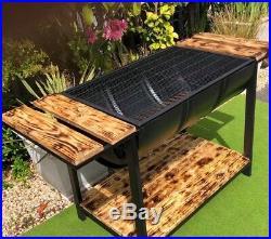 BBQ Drum Jerk Grill Firepit Garden Furniture Accessories Kitchen Smoker Barbecue