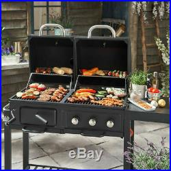 BBQ Garden American uniflame Charcoal Gas Grill Outdoor patio Wheel Fuel NEW Uk