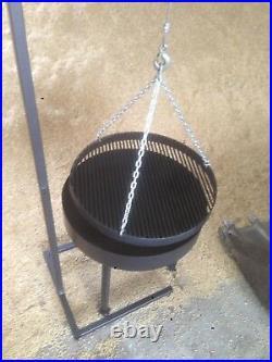 BBQ swing grill, german sausage stall, charcoal