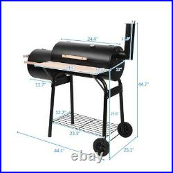 Barbecue BBQ Outdoor Charcoal Smoker Portable Grill Garden Barrel Drum Large UK
