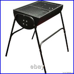 Bbq Charcoal Barbecue Grill Camping Picnic Cooking Stove Half Barrel Stove New