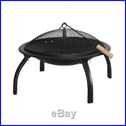 Benross Large 22 Outdoor Garden Patio BBQ Barbeque Grill & Firepit Bowl Black