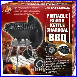 Black Kettle Barbecue Bbq Grill Outdoor Charcoal Patio Cooking Wheels Picnic New