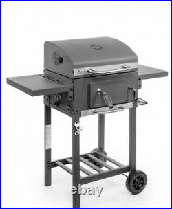 Brand New, Deluxe Charcoal Bbq, Grey Stainless Steel Grill Barbeque. Bargain