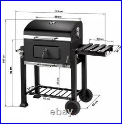 Brand New Tepro Toronto Click Charcoal Barbecue BBQ Grill Smoker