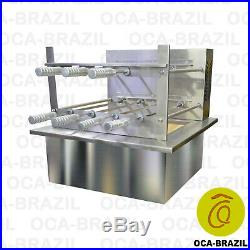 Brazilian BBQ Charcoal Grill with Firebox 7 Skewers Oca-Brazil