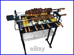 Brazilian Churrasco Charcoal BBQ Spit Roaster Rotisserie Grill