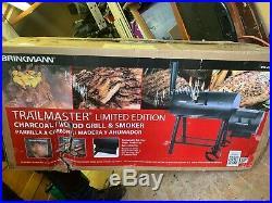 Brinkmann Trailmaster BBQ Charcoal Woodchip Barrel Smoker Grill Slow Cook USA