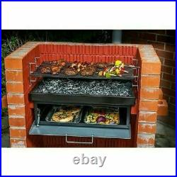 Built In Grill Oven Brick Stone BBQ DIY Kit Charcoal Outdoor Barbecue garden
