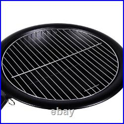 CGC Fire Pit Round Outdoor Foldable Garden Camping Heater BBQ Grill Portable UK