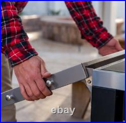 Charcoal BBQ Grill Large Smoker Barbecue Steel Garden Outdoor Portable Cooker