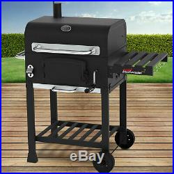 Charcoal BBQ Smoker Grill Cart Barbecue With Wheels 113/102/62cm