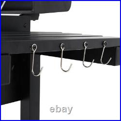Charcoal Bbq Garden Party Barbeque Trolley Large Stainle Steel Grill Stove Cart