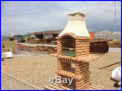 Charcoal Brick Barbecue with grill