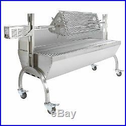 Charcoal Hog Roast Machine Spit Rotisserie Grill Attachment Steel Motor 90kg BBQ