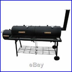Charcoal Smoker BBQ Barrel Barbecue Grill Nevada XL Portable Garden Outdoor Blac