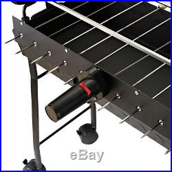 Charcoal Trolley BBQ Garden Outdoor Barbecue Cooking Grill Powder Wheel New