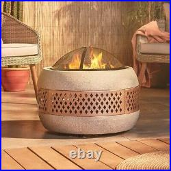 Chyna Concrete Garden Fire Pit Patio Heater Bbq Grill Log Burn