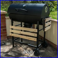 Classic Charcoal Bbq Grill Smoker Outdoor Black Patio Barbeque Foldable Portable
