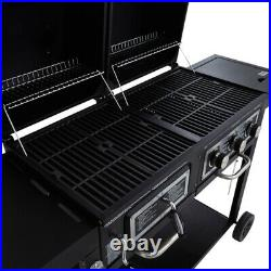 Classic Gas and Charcoal Combination Grill Barbecue 3 Burner & Side Burner