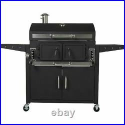 Classic Large 82cm American Grill BBQ Outdoor Smoker Barbecue Charcoal Garden