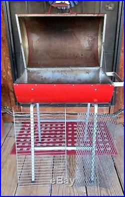 Coca Cola BBQ Barbecue Grill Coke Can Full Size Charcoal Metal 34 T Vintage