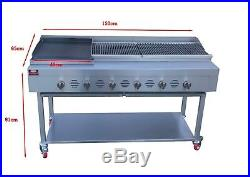 Commercial Barbecue Gas Grill Charcoal Grill Gas Griddle Lavarocks Grill