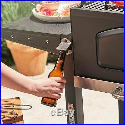 Compact Charcoal Barbecue Grill Machine Outdoor Grilling BBQ Adjustable Height